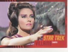 """LEE MERIWETHER SIGNED 2013 """"STAR TREK"""" TOS HEROES & VILLAINS #88 - LOSIRA"""