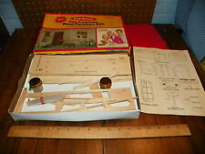 "1974 REALIFE MINATURES Wood Furniture Doll House Kit ""Heritage Living Room"" NIP"