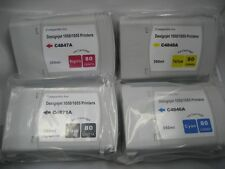 HP 80 Compatible 4 color Ink Cartridge set C4871A 4846A 4847A 4848A DJ 1000 1050