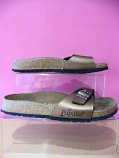 PAPILLIO BY BIRKENSTOCK BRONZE LEATHER SLIP ON MULES SANDALS SIZE 5 / 38 REFNV21