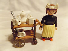 Playmobil Victorian Tea Cart Set for 2 w Maid, 5300 Mansion Doll House Furniture