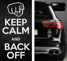 KEEP CALM BACK OFF Funny Bumper Sticker Vinyl Decal Tailgate Car Truck JDM Drift