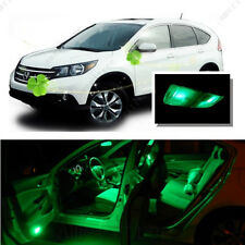 For Honda CRV 2007 - 2012 Green LED Interior Kit + Green License Light LED