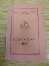 1963 Cricket: English Schools Association - Handbook. Thanks for taking the time