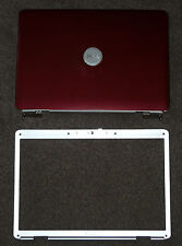 NEW DELL INSPIRON 1525 1526 LID COVER RED WITH HINGES WIRES AND FRONT BEZEL SET