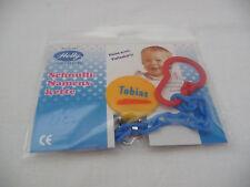 """Helly Schnullerkette mit dem Namen """"Tobias"""" - Neu und Originalverpackt!!!"""