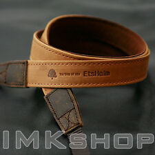 NEW MATIN Vintage-20 TAN DSLR SLR Camera Neck Shoulder Leather Strap for Canon