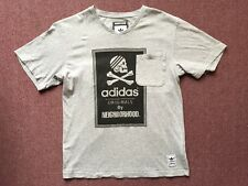 ADIDAS x NEIGHBORHOOD JAPAN TEE SHIRT MEDIUM GREY POCKET V NECK