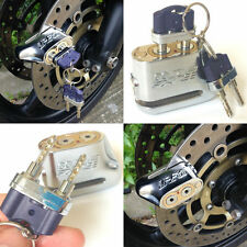 Silver Color Anti-theft Motorcycle Motorbike Scooter Disc Brake Lock 2 Keys IU