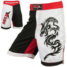 MMA Shorts Grappling Short ufc Cage Fight Kick Boxing Red/White/Black XL