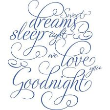 SWEET DREAMS SLEEP TIGHT Wall Art Decal Quote Words Lettering Decor Sticker