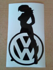 vw sexy girl babe car sticker logo vinyl graphics decals beetle polo golf  fun