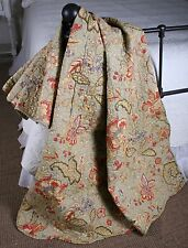 Quilt Throw French Country Sage Russett Cornsilk Paisley
