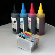 Refillable #124 T124 w/ 400ml ink for Epson workforce wf- 320 323 325 435