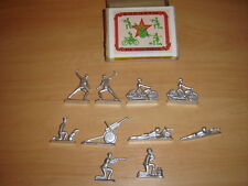 Soviet Russian Vintage TIN TOY set of 10 Soldiers on a drill70-s NEW metal ussr