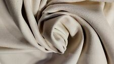 """Natural White 10 OZ. Bull Denim Cotton Canvas Duck Fabric 58""""W Upholstery Soft"""