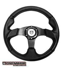 "Pro Armor Force Steering Wheel 13"" Circle Black w/black stitching Can-am Polaris"