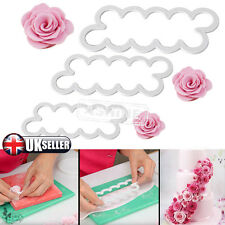 3pc Cake Rose Petal Flower Cutter Fondant Icing Tool Sugarcraft Decorating Mould