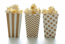Gold Popcorn Box Party Pack (36 Boxes) - Elegant Wedding Party Favor Popcorn Tub
