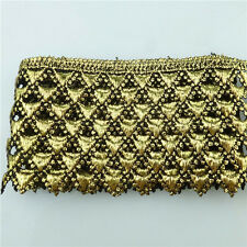1 Meter Fabric Lace Gold Venise Guipure Embroidered Trim Crafts/Costume/Sewing