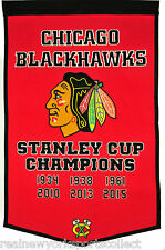 2015 CHICAGO BLACKHAWKS STANLEY CUP CHAMPIONS CHAMPS WOOL DYNASTY BANNER KANE