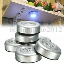 6Pcs Stick And Click LED Push Lights Self Adhesive Battery Operated Push On Lamp