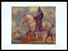 CHEVALIER -1910- LITHOGRAPHIE ART NOUVEAU, ADOLFO MAGRINI