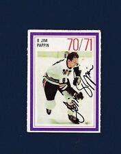 Jim Pappin signed Chicago Blackhawks 1970-71 Esso NHL Hockey Stamp