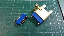 7 PIN D-SUB MALE - FEMALE CONNECTORS , MIL SPEC GOLD PLATED CONTACTS