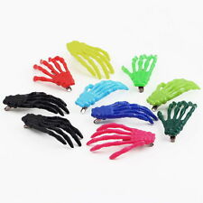 10 PCs Cute Creepy Plastic Skeleton Hand Hair Clip Hairpin for Women Girls FE