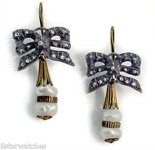 Antique Gold Silver Top Earring with Rose Cut Diamonds And Natural Pearls