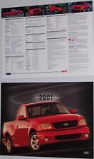 Lot of 2 2001 01 Ford SVT Lightning original brochure