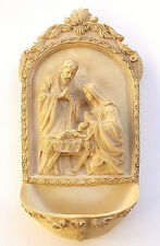 "Nativity Holy Water Font 6-1/4"" x 3-1/4"""
