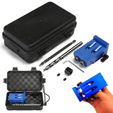 Mini Kreg Style Pocket Hole Drill Jig Kit With Step Drilling Bit Woodwork Tool.