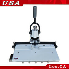 """Paper Hole Drill Punch Machine 1/4"""" 6mm Hole 300 Sheets Two Cut Die Moulds"""