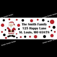 30 Christmas Return Address Labels  -  Santa Design