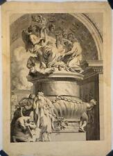 """Eau-forte et burin XVIIIe, """"sculpture religieuse"""""""
