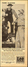 1955-Lee Clothes`Lee Overalls`Farmer Tractor Vintage Ad