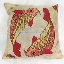 Pisces Zodiac Symbol cotton linen cushion cover hippie bohemian sofa pillow