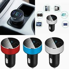 Dual USB DC 5V 3.1A Car Charger Adapter Voltage Tester For iPhone Samsung HTC LG