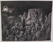 Doré - London; 'Covent Garden Market - Early Morning', Wood Engraving, C.1870