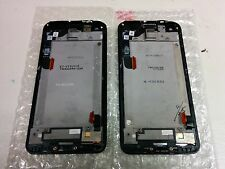 HTC Droid DNA Display Assembly With Frame Cracked Glass Black Lot of 2