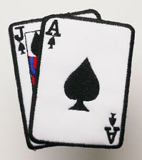 """Card Player """"BLACKJACK"""" Iron-On Embroidered Patch - MIX 'N' MATCH - #4L06"""