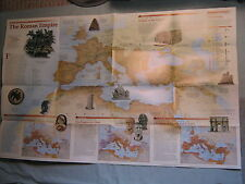 THE ROMANS - ANCIENT ROME - ROMAN EMPIRE WALL MAP  National Geographic July 1997