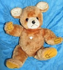 VINTAGE RARE TEDDY BEAR RADIO SILKY PLUSH  AIRBRUSHED ? JESTIA JAPAN TAG KAMAR ?