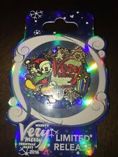 Disney Mickey's Very Merry Christmas Party 2016 Mickey Mouse Logo 3-D Pin LR NEW