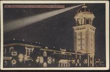Postcard DENVER CO Lakeside Park White City of Night