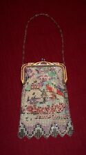 Vintage Antique Whiting Davis Mesh Purse Art Deco Flowers or Tree?  Handbag