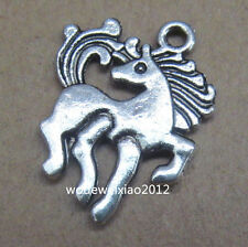 10x Retro Tibetan Silver 2-Sided Horse Pendant Charms Beads Wholesale  PL078