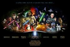 "20x30"" STAR WARS ANNIVERSARY LARGE CANVAS PRINT WALL ART READY TO HANG"